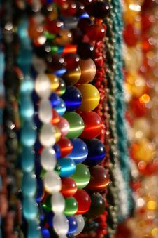 Bazaar With Beads Stock Photo