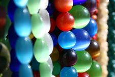 Green And Blue Beads Stock Photography