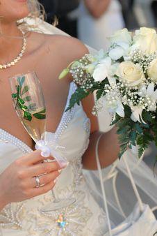 Free Bride Wearing Wedding Dress Stock Photo - 7732040