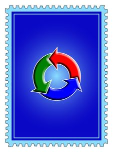 Free Recycling Sign Stamp Royalty Free Stock Photography - 7732397