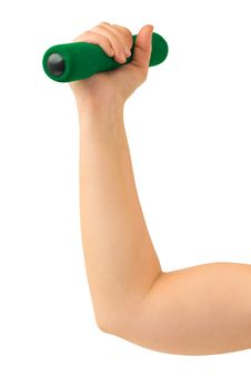 Free Hand With Dumbbells Stock Image - 7732621