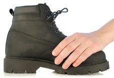 Free Hand Holds Rough Boot Royalty Free Stock Photo - 7732935