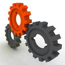 Free Isolated Cogwheels Stock Image - 7733041