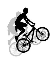 Extreme Sport Silhouette Stock Photo