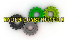 Free Isolated Cogwheels - Under Construction Royalty Free Stock Image - 7733226