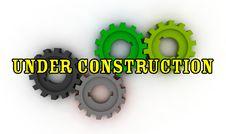 Free Isolated Cogwheels - Under Construction Royalty Free Stock Image - 7733226