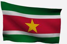 Free Surinam 3d Flag Royalty Free Stock Photos - 7733328