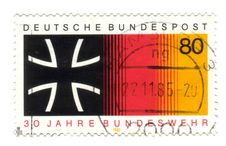 Free Old Canceled German Stamp Royalty Free Stock Photos - 7733388