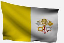 Free Vatican City 3d Flag Stock Photos - 7733403