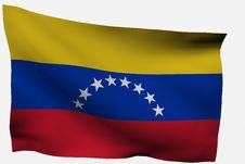 Venezuela 3d Flag Stock Image