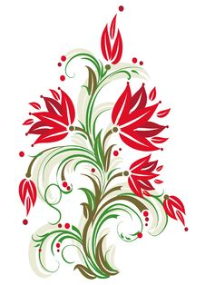 Free Stylized Floral Tree. Stock Image - 7733531