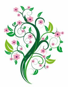 Free Stylized Floral Tree. Stock Photos - 7733673