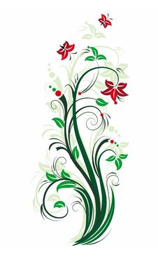 Free Stylized Floral Tree. Stock Photography - 7733772