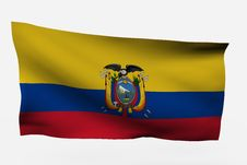 Free Ecuador 3d Flag Stock Photography - 7733822