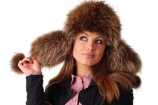 Free Woman In Fur Cap Stock Photography - 7733982