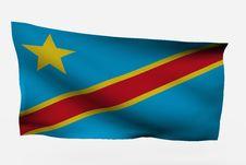 Free Dem Rep Congo 3d Flag Royalty Free Stock Photo - 7734005