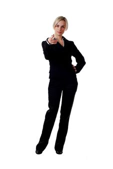 Woman In Pantsuit Stock Image