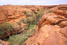 Australian Kings Canyon Royalty Free Stock Photography