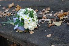 Free Wedding Bouquet On Bench Stock Photos - 7734553