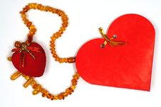 Free Valentine Day  Gift Amber Necklace Royalty Free Stock Photography - 7735047
