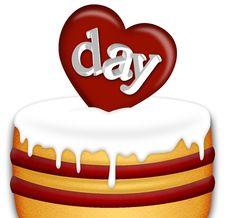 Valentines Day Cake Stock Photos