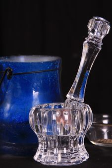 Free Crystal Mortar And Pestle Royalty Free Stock Image - 7735626