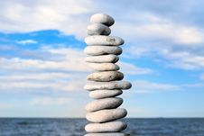Free Grey Stone Tower On A Beach Royalty Free Stock Photos - 7735748