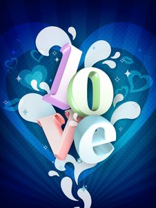 Free Love Illustration Stock Photo - 7735790