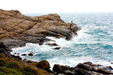 Free Rocky Coast And Fishing People Stock Photo - 7736030