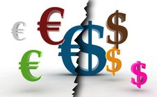 Free Euro/dollar Symbols Stock Photo - 7736410