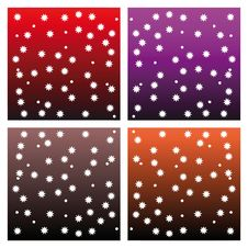Multicolor Backgrounds With Little Stars Stock Image