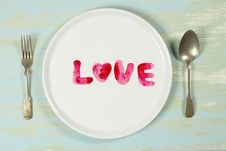 Free Love Plate Royalty Free Stock Photography - 7736587