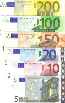 Detail Of European Banknotes Stock Image