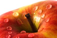 Apple Close-up With Waterdrops Stock Image