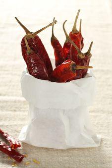 Free Red Dried Chili Royalty Free Stock Images - 7737009