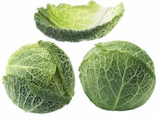Free Savoy Cabbage Isolated Royalty Free Stock Photo - 7738485