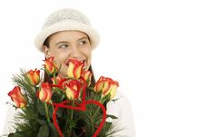 Free Woman With Flower Royalty Free Stock Image - 7738636