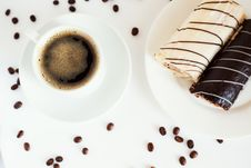 Free Coffee With Dessert Stock Photos - 7739033