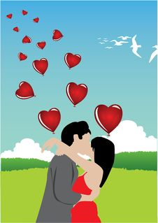 Free Valentine And Balloons Royalty Free Stock Image - 7739486