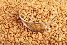 Popped Wheat Grains In Cup Stock Image