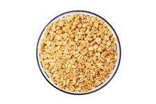 Popped Wheat Grains In Cup Stock Photos