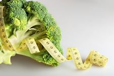 Free Green Broccoli With Tape Measure Stock Photo - 7739570