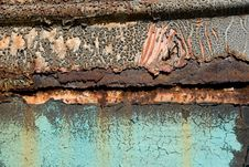 Free Metal Surface With The Cracked Paint Stock Photo - 7739630