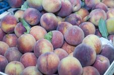 Free Fresh Peaches On Display Stock Image - 77318421