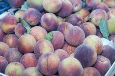 Free Fresh Peaches On Display Stock Image - 77318421