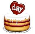 Free Valentines Day Cake Royalty Free Stock Photo - 7747095