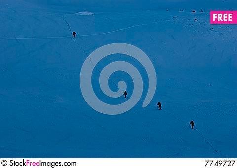 Alpinists Stock Photo