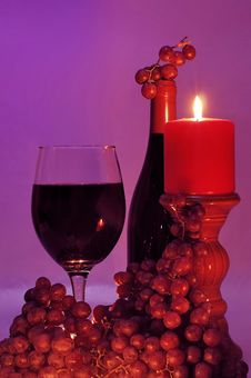 Free Wine In Candle Light Royalty Free Stock Photo - 7740205