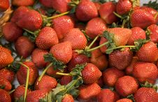 Free Cluster Of Fresh Strawberries Stock Photography - 7740972