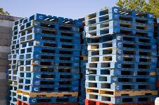 Free Stacked Pallets Stock Photos - 7741183